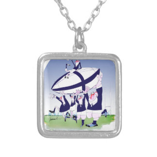 scottish rugby cheers, tony fernandes silver plated necklace