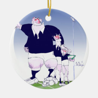 scottish rugby chums, tony fernandes christmas ornament