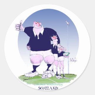 scottish rugby chums, tony fernandes round sticker