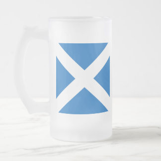 Scottish Saltire Party Frosted Glass Mug