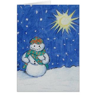 Scottish Snowman Card