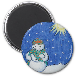 Scottish Snowman Magnet