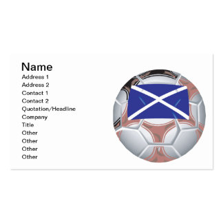 Scottish Soccer Ball Double-Sided Standard Business Cards (Pack Of 100)