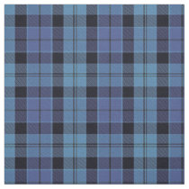 Scottish Strathclyde Blue and Black Tartan Plaid Fabric