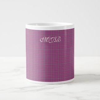 Scottish-style Tartan Plaid Monogram Large Coffee Mug
