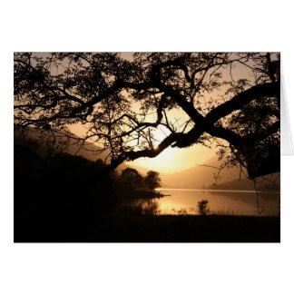 Scottish Sunset across a Loch Card