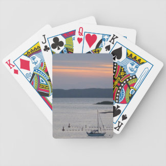 Scottish Sunset and Yacht Playing Cards