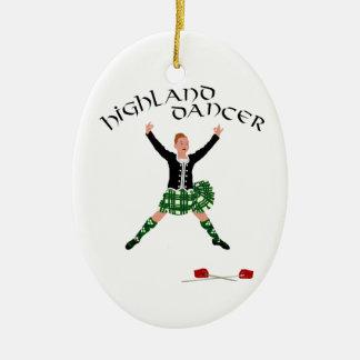 Scottish Sword Dancer - Ghillie Callum Ceramic Oval Decoration