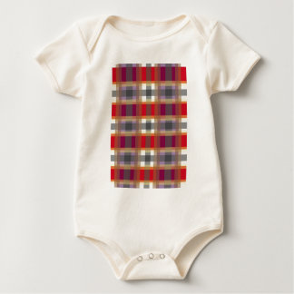 Scottish tartan baby bodysuit