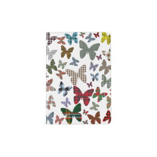 Scottish Tartan Butterflies Passport Holder