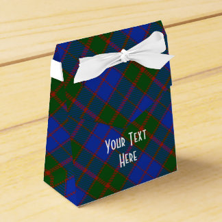 Scottish Tartan Clan Paid Pattern Personalized Favour Boxes