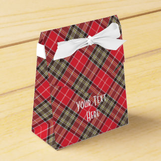 Scottish Tartan Clan Paid Pattern Personalized Party Favour Box