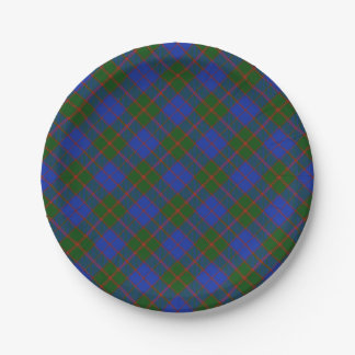 Scottish Tartan Clan Paid Patterned Paper Plate