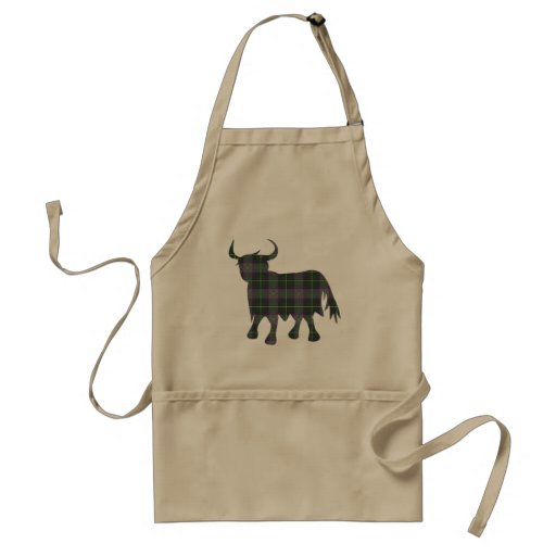 Scottish Tartan Cow Design Aprons