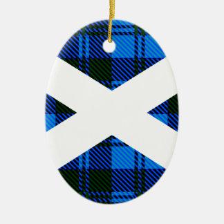 Scottish Tartan Flag Ceramic Oval Decoration