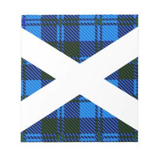 Scottish Tartan Flag Notepad
