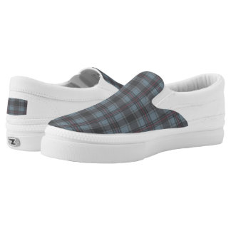 Scottish tartan plaid moss green plaid Slip-On shoes
