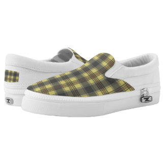 Scottish tartan plaid yellow plaid printed shoes
