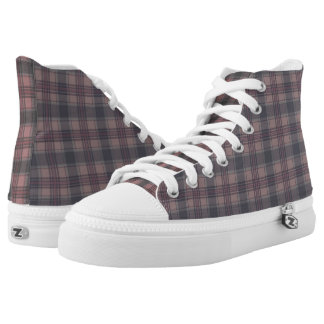 Scottish Tartan plaids crimson Printed Shoes