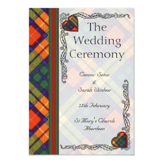 Scottish Tartan Wedding program - Buchanan 13 Cm X 18 Cm Invitation Card