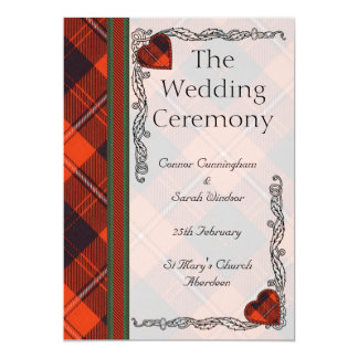 Scottish Tartan Wedding program - Cunningham 13 Cm X 18 Cm Invitation Card