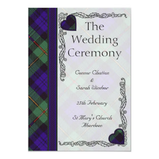 Scottish Tartan Wedding program - Macewen
