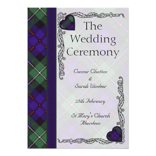 Scottish Tartan Wedding program - Mackenzie Invites