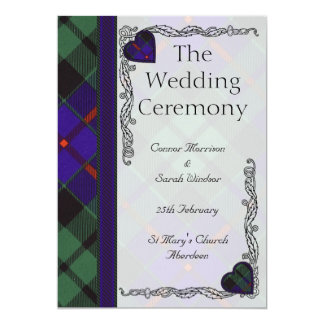Scottish Tartan Wedding program - Morrison 13 Cm X 18 Cm Invitation Card