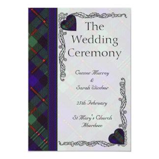 Scottish Tartan Wedding program - Murray