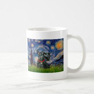 Scottish Terrier 12c -Starry Night Basic White Mug