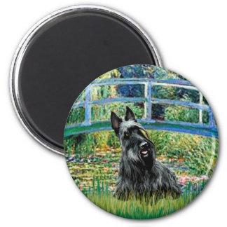 Scottish Terrier 3 - Bridge 6 Cm Round Magnet