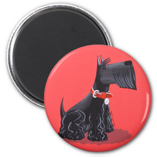 Scottish Terrier 6 Cm Round Magnet