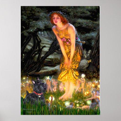 Scottish Terrier 6-Mid Eve Poster