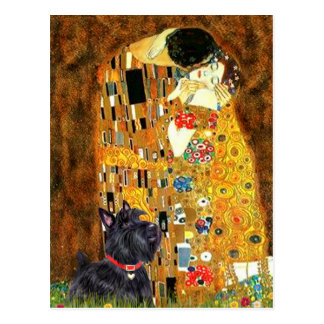 Scottish Terrier 6 - The Kiss Postcard