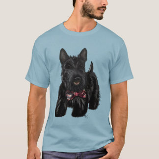 Scottish Terrier and Bow T-Shirt
