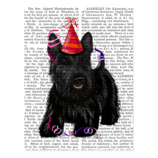 Scottish Terrier and Party Hat Postcard