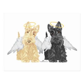 Scottish Terrier Angels Postcard