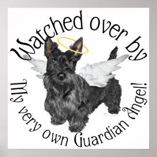 Scottish Terrier Angels Poster