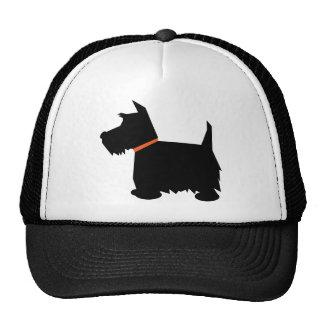 Scottish Terrier black silhouette cap, hat