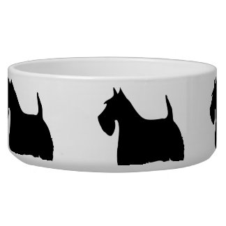 Scottish Terrier black silhouette pet dog bowl