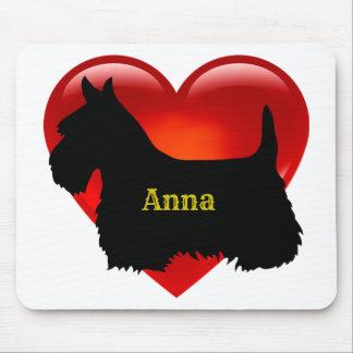 Scottish Terrier black silhouette Scotland dog Mouse Mat
