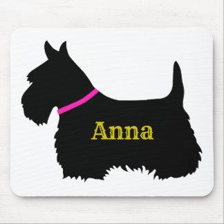 Scottish Terrier black silhouette, Scotland dog Mouse Mat