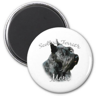 Scottish Terrier (blk) Mom 2 6 Cm Round Magnet