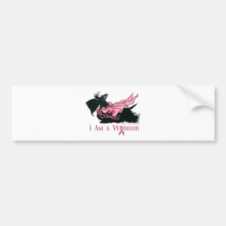 Scottish Terrier Breast Cancer Warrior Bumper Sticker