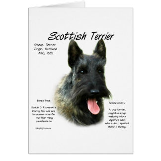 Scottish Terrier (brindle) History Design Card