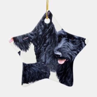 Scottish Terrier Ceramic Star Decoration