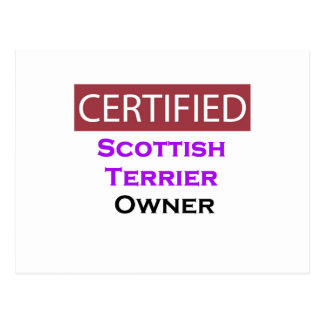 Scottish Terrier Certified Owner Postcard