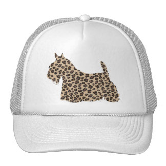Scottish Terrier Cheetah Print Cap