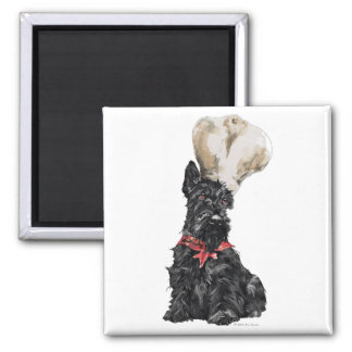Scottish Terrier Chef Square Magnet