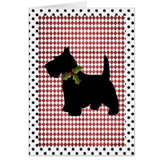 Scottish Terrier Christmas Fun Scottie Dog Custom Card
